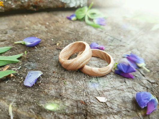 Кольца ручной работы. Ярмарка Мастеров - ручная работа. Купить Изысканные кольца из белого ясеня. Handmade. Бежевый, 8 марта