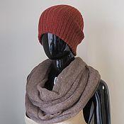 Аксессуары handmade. Livemaster - original item Hats: double beanie hat made of camel wool. Handmade.