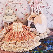 Одежда для кукол ручной работы. Ярмарка Мастеров - ручная работа Одежда для кукол. Комплект одежды, бохо, шебби шик. Handmade.