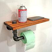 Для дома и интерьера handmade. Livemaster - original item Industrial style toilet paper holder, Loft style. Handmade.