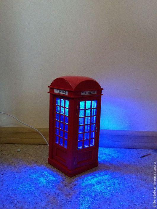 """Освещение ручной работы. Ярмарка Мастеров - ручная работа. Купить Ночник """"Английская телефонная будка"""". Handmade. Ярко-красный, англия"""