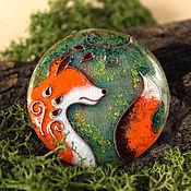 """Украшения ручной работы. Ярмарка Мастеров - ручная работа Брошь """"Лис-Хранитель"""" лиса, лисичка, лесной. Handmade."""