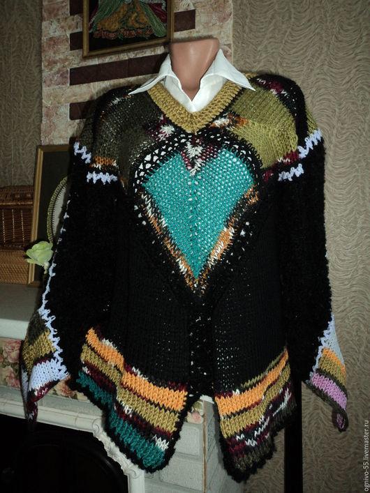 """Кофты и свитера ручной работы. Ярмарка Мастеров - ручная работа. Купить Джемпер """"Египетская ночь"""". Handmade. Комбинированный, необычный дизайн"""