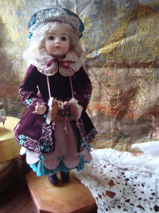 Коллекционные куклы ручной работы. Ярмарка Мастеров - ручная работа. Купить Репродукция стариной куклы.Для примера. Handmade. Бордовый