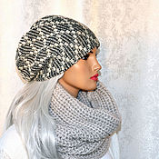 Аксессуары handmade. Livemaster - original item Stylish winter hat double women`s