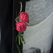 """Украшения ручной работы. Ярмарка Мастеров - ручная работа Милая брошка """"Три цветочка"""". Handmade."""