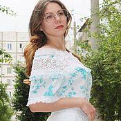 Одежда handmade. Livemaster - original item Blouse has lace. Ready or custom-made. Handmade.
