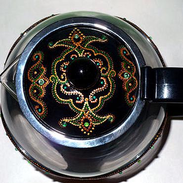 """Посуда ручной работы. Ярмарка Мастеров - ручная работа Заварной чайник """"Изумрудный Восток"""". Handmade."""