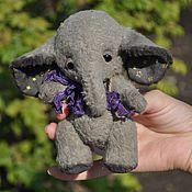 Куклы и игрушки ручной работы. Ярмарка Мастеров - ручная работа Слоник (12,5см). Handmade.