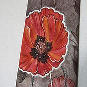 Аксессуары ручной работы. Ярмарка Мастеров - ручная работа Маки - шелковый галстук с ручной росписью. Handmade.