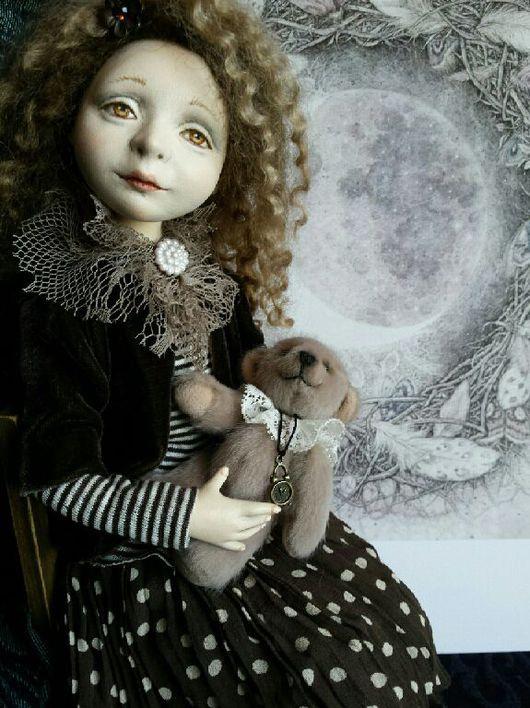 Коллекционные куклы ручной работы. Ярмарка Мастеров - ручная работа. Купить Машенька авторская кукла 33см паперклей флюмо. Handmade.