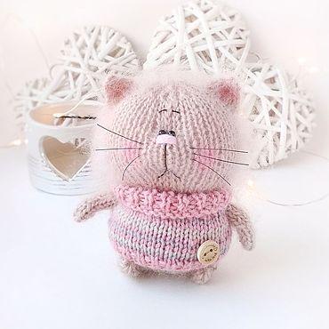 Куклы и игрушки ручной работы. Ярмарка Мастеров - ручная работа Игрушка вязаный кот. Handmade.