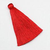 (KD002) Кисть декоративная в тубе 70мм, Красная