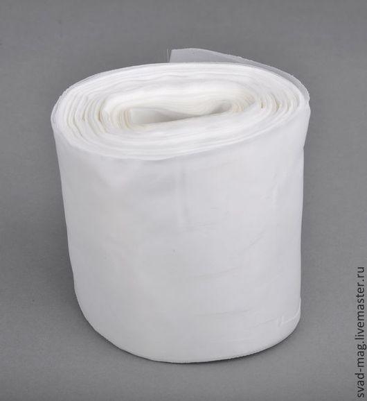 Аппликации, вставки, отделка ручной работы. Ярмарка Мастеров - ручная работа. Купить Лента нейлон 100 мм, белая (90 м). Handmade.