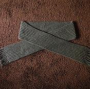 Аксессуары handmade. Livemaster - original item Knitted scarf grey. Handmade.