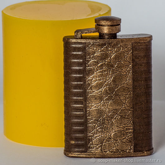Silicone mold for soap 'Flask 3D', Form, Shahty,  Фото №1