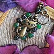 Аксессуары ручной работы. Ярмарка Мастеров - ручная работа Брелок Кошечка, украшение на сумку, для ключей. Handmade.