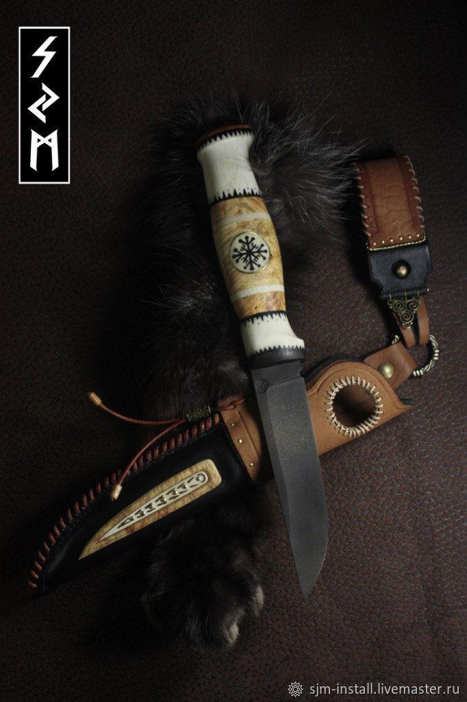 Подарки для мужчин, ручной работы. Ярмарка Мастеров - ручная работа. Купить Авторский нож ручной работы 'Старый Норд'. Handmade.