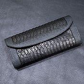 Сумки и аксессуары handmade. Livemaster - original item Women`s wallet, made of genuine python leather and calfskin!. Handmade.