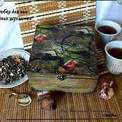 """Для дома и интерьера ручной работы. Ярмарка Мастеров - ручная работа Чайная шкатулка """"Чайная церемония"""". Handmade."""