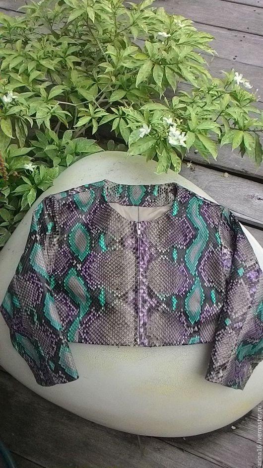 Верхняя одежда ручной работы. Ярмарка Мастеров - ручная работа. Купить Жакет из питона. Handmade. Комбинированный, костюм кожаный