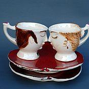 Посуда handmade. Livemaster - original item The Bride and groom. Coffee couples.. Handmade.