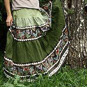 """Одежда ручной работы. Ярмарка Мастеров - ручная работа Юбка """"Лесные птицы"""". Handmade."""