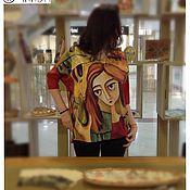 """Одежда ручной работы. Ярмарка Мастеров - ручная работа Блузка с принтом """"Ева"""". Handmade."""