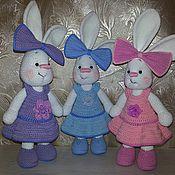 Куклы и игрушки ручной работы. Ярмарка Мастеров - ручная работа Зайка с бантом. Handmade.