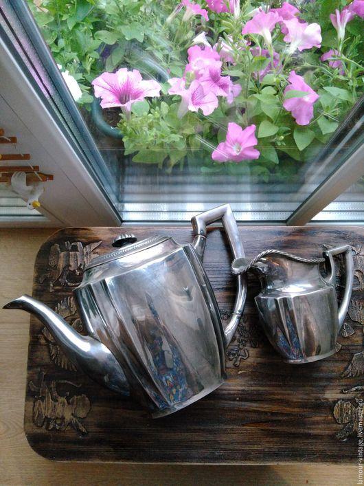 Винтажная посуда. Ярмарка Мастеров - ручная работа. Купить Элегантный чайник и сливочник (Англия, посеребрение, 1930-е). Handmade.