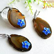 Украшения handmade. Livemaster - original item Agate. Set of fabulous agate with a unique pattern.. Handmade.