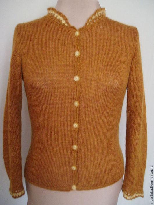 Пиджаки, жакеты ручной работы. Ярмарка Мастеров - ручная работа. Купить жакет из мохера Цвет осени. Handmade. Рыжий