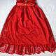 Одежда для девочек, ручной работы. Платье кружевное Алое. Евгения (ptichkatari). Ярмарка Мастеров. Платье с бантом