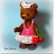 Куклы и игрушки ручной работы. Ярмарка Мастеров - ручная работа Мишка тедди Вишенка. Handmade.