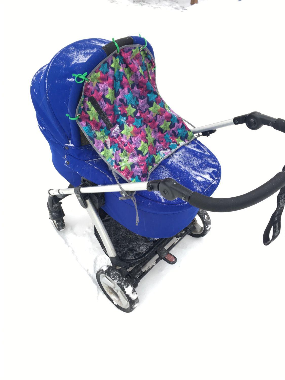Универсальная защитная накидка на коляску или автокресло, Козырек для коляски, Балашиха,  Фото №1