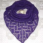 Аксессуары ручной работы. Ярмарка Мастеров - ручная работа Шейный платок вязаный спицами мини шаль ручной работы. Handmade.