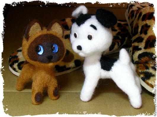 Игрушки животные, ручной работы. Ярмарка Мастеров - ручная работа. Купить Котенок Гав и его приятель. Handmade.