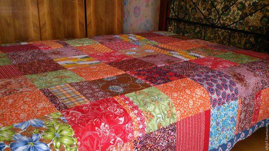 Текстиль, ковры ручной работы. Ярмарка Мастеров - ручная работа. Купить Покрывало Пестрое 6. Handmade. Покрывало лоскутное