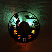 Для дома и интерьера manualidades. Livemaster - hecho a mano Reloj con luz LED en la cocina. Handmade.