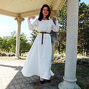 Dresses handmade. Livemaster - original item Dress white linen Gerda. Handmade.