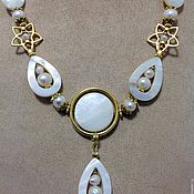 Украшения handmade. Livemaster - original item Set made of pearls and mother of pearl in Oriental style Shell-oyster. Handmade.