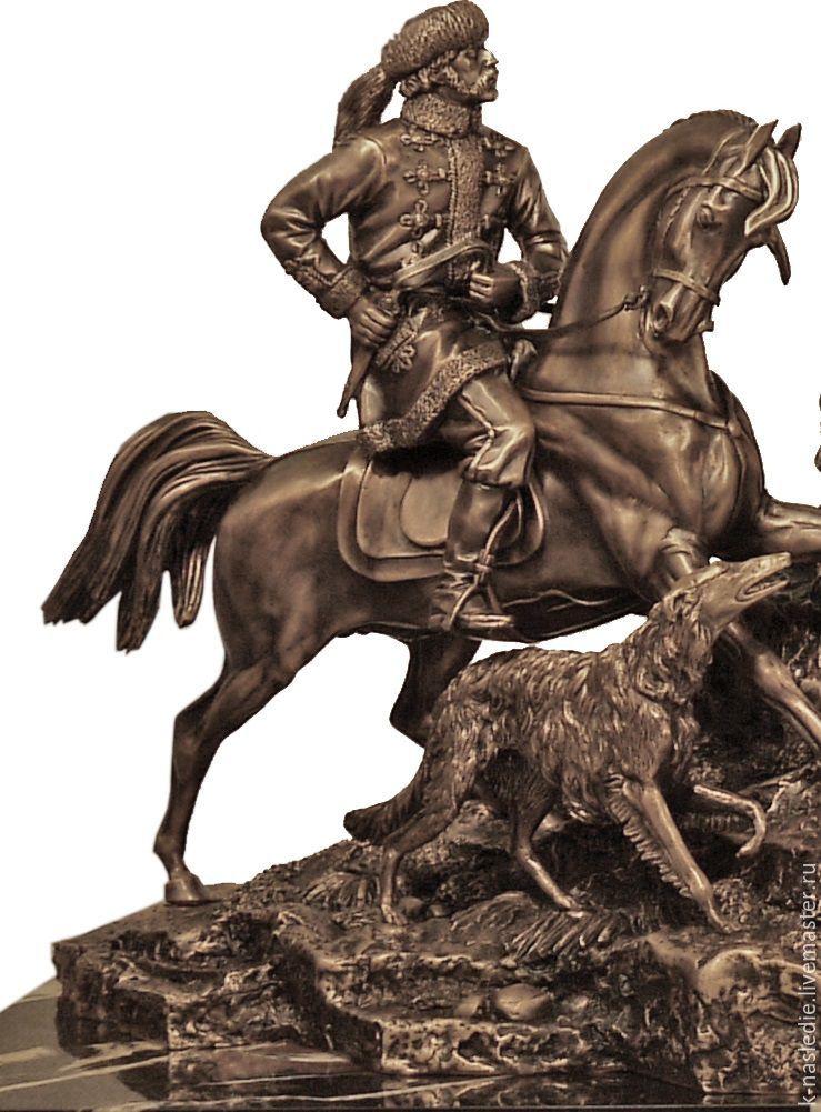 de49e76a96f9 Часы каминные Охота на волков (каминные часы из бронзы, коричневый ...