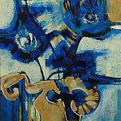 """Картины и панно ручной работы. Ярмарка Мастеров - ручная работа Картина """"Глубоко Синий"""". Handmade."""