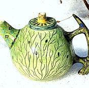 """Посуда ручной работы. Ярмарка Мастеров - ручная работа Чайник """"Изумрудный сад"""". Handmade."""