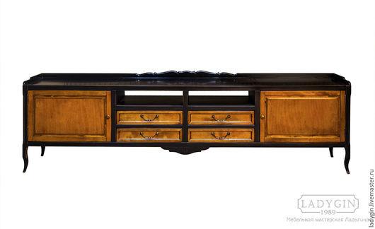 Мебель ручной работы. Ярмарка Мастеров - ручная работа. Купить Деревянная консоль под тв и аппаратуру длинная. Handmade. Консоль