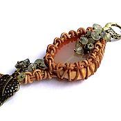 Key chain handmade. Livemaster - original item Keychain with natural stones: chalcedony and prehnite. Handmade.