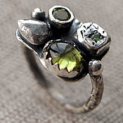 Украшения ручной работы. Ярмарка Мастеров - ручная работа Кольцо из серебра Candy серебряное кольцо, кольцо серебро камни. Handmade.
