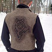 Одежда ручной работы. Ярмарка Мастеров - ручная работа Жилет мужской валяный Степной волк. Handmade.