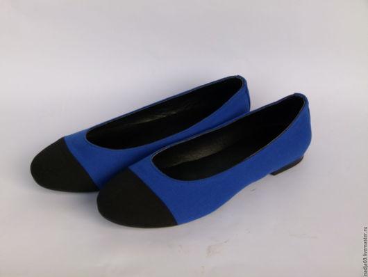 Обувь ручной работы. Ярмарка Мастеров - ручная работа. Купить Балетки джинсовые. Handmade. Комбинированный, балетки ручной работы