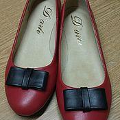 Обувь ручной работы. Ярмарка Мастеров - ручная работа Балетки женские. Handmade.